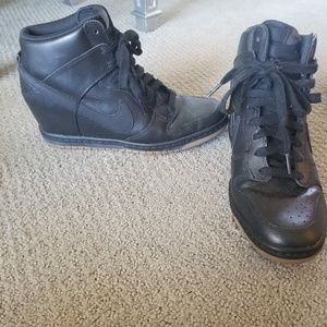 Shoes - Nike Dunk Sky Hi Wedge Sneakers size 9